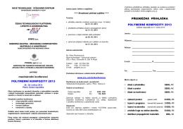 Pozvánka na konferenci - Česká společnost pro mechaniku