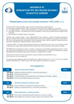 abonence rt interaktivní tpg pro revizní techniky plynových zařízení