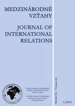 1 - Fakulta medzinárodných vzťahov
