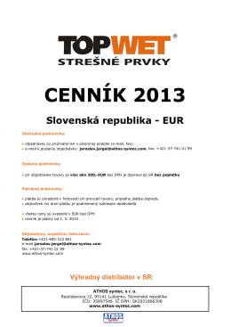 CENNÍK 2013 Slovenská republika - EUR