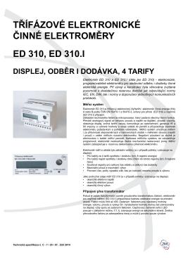 Technická specifikace ED 310