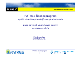 Energetická náročnost budov v ČR