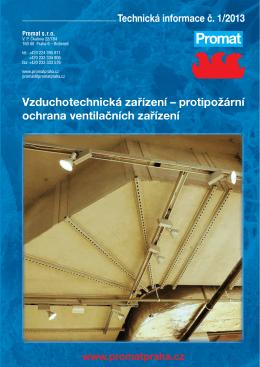 Vzduchotechnická zařízení – protipožární ochrana