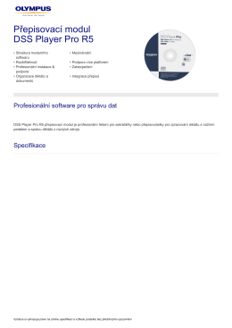 Přepisovací modul DSS Player Pro R5