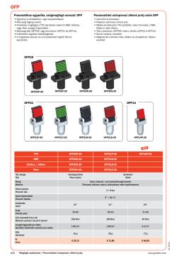 OFP20 OFP21 OFP14 Pneumatické uchopovací úhlové prsty série