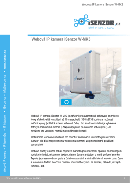 Webová IP kamera iSenzor W-MK3