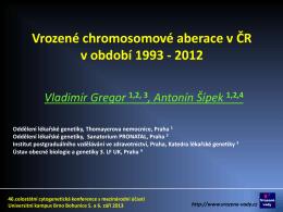 Edwardsův syndrom v České republice, 1993 - 2012