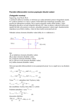 Parciální diferenciální rovnice popisující dlouhé vedení
