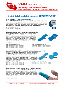 Ceník DETECTAPLAST 2014