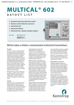 MULTICAL® 602 - Zkušebna Mydlovary sro