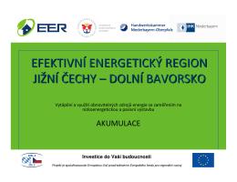 akumulace - Energetický region