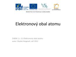 Elektronový obal atomu - Střední lesnická škola a Střední odborné