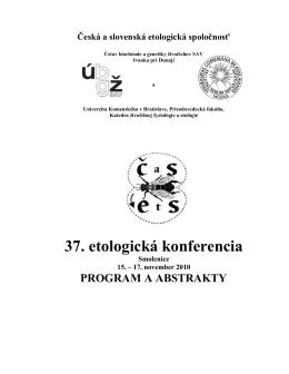 Zborník z 37. konferencie ČSEtS, Smolenice 2010