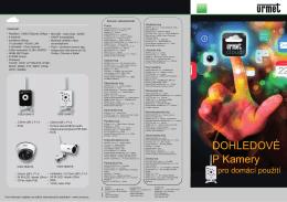 dohledové IP kamery pro domácí použití