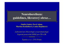 Neuroborelioza: guidelines, likvorový obraz…