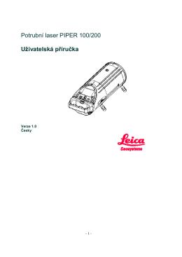 Potrubní laser PIPER 100/200 Uživatelská příručka