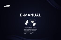E-MANUAL - Návod