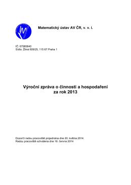 Matematický ústav AV ČR, v - MÚ AV ČR