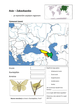 Asie – Zakavkazsko