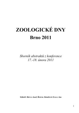 Sborník 2011 A5postkonf - Zoologické dny