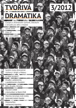 TVOŘIVÁ DRAMATIKA 3/2012