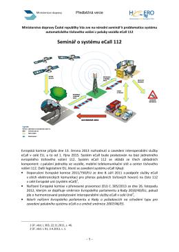 Seminář o systému eCall 112