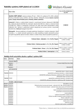Nabídka systému ASPI platná od 1.6.2014
