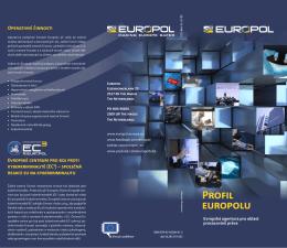 Profil europolu Evropská agentura pro oblast prosazování práva