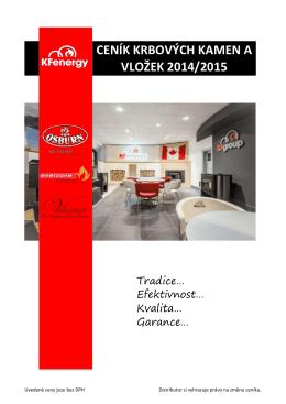 ceník krbových kamen a vložek 2014/2015