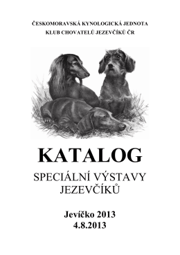 KATALOG - Klub chovatelů jezevčíků