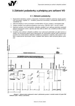 3. Základní požadavky a předpisy pro zařízení VO