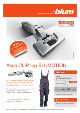 Akce CLIP top BLUMOTION