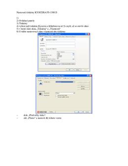 Nastavení tiskáren Minolta/Kyocera