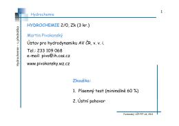 Fyzikální a fyzikálně-chemické vlastnosti vody