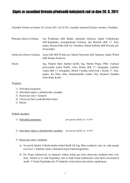 Zápis GPKR 20. 6. 2011 - Grémium předsedů kolejních rad