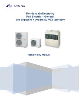 Kondenzační jednotky (pouze chlazení) Fuji Electric – General pro