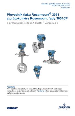 Převodník tlaku Rosemount® 3051 a průtokoměry Rosemount řady
