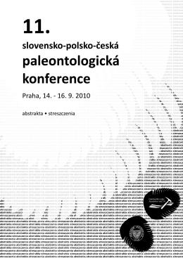 11. slovensko-polsko-česká paleontologická konference