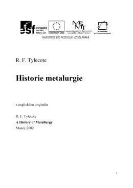 Historie metalurgie