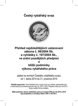 USMP 2014.indd - Český rybářský svaz, územní svaz města Prahy