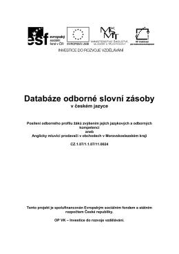 Databáze odborné slovní zásoby
