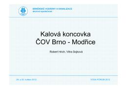 Kalová koncovka ČOV Brno - Modřice