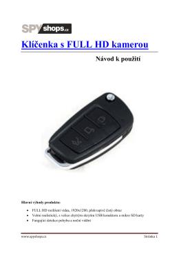 Klíčenka s FULL HD kamerou