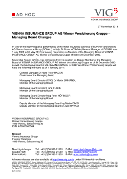 27.11.2013 Ad hoc News VIG Managing Board Changes