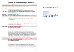 Celý program konferencie - DidInfo
