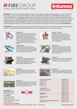 INTUMEX protipořární systémy