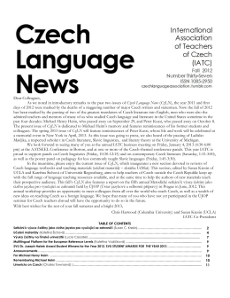Czech Language News