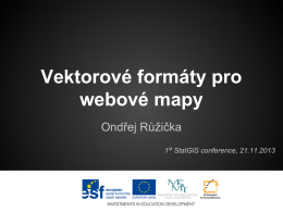 Vektorové formáty pro webovové mapy I