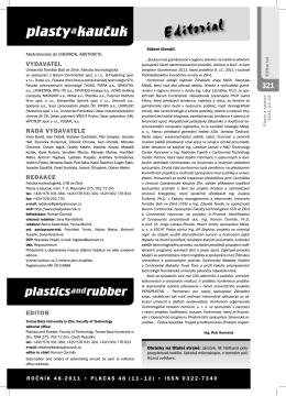 11-12/2011 - Plasty a kaučuk