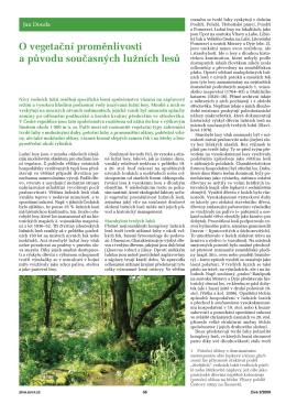 O vegetační proměnlivosti a původu současných lužních lesů